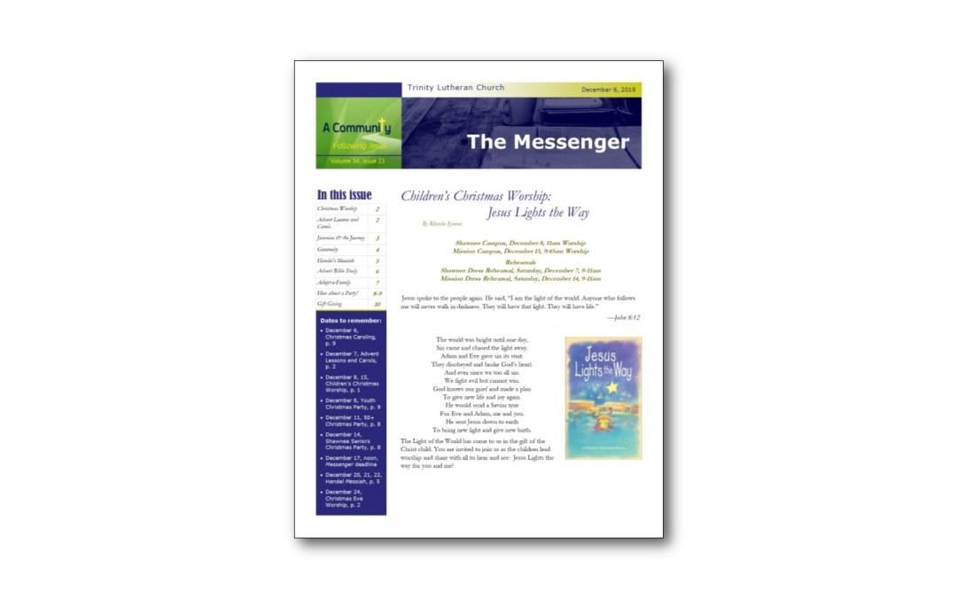 December 6 Trinity Messenger