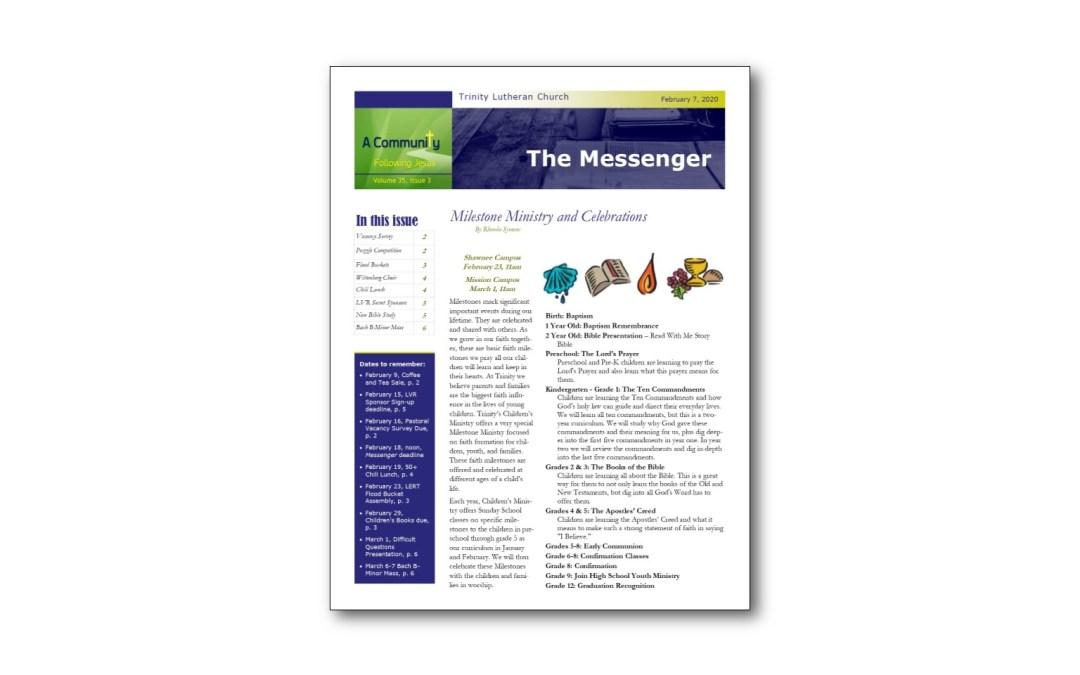 February 7 Trinity Messenger