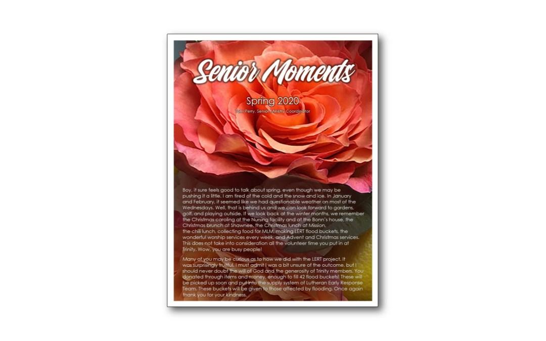 Senior Moments – Spring 2020