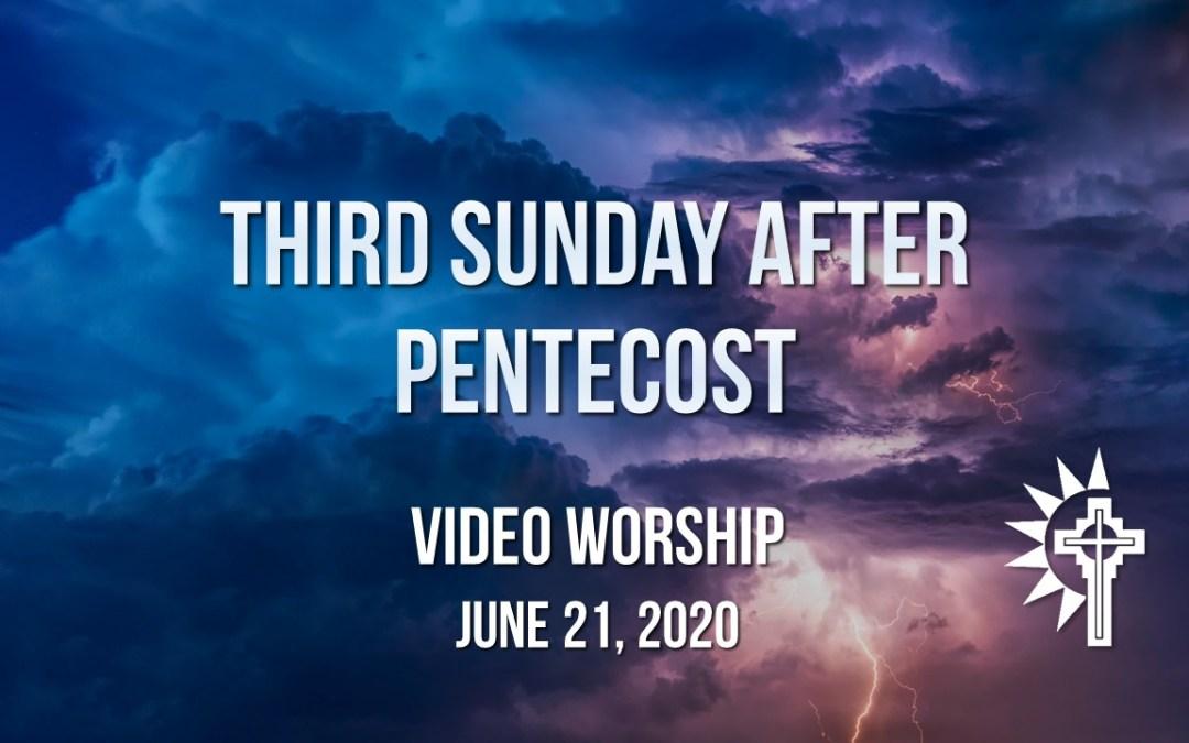 Sunday Worship – June 21