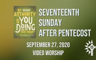 Sunday Worship – September 27