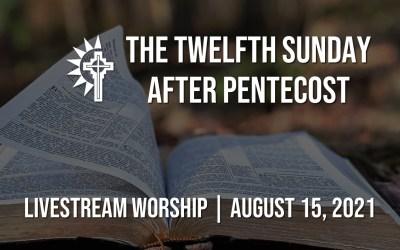 Sunday Worship – August 15