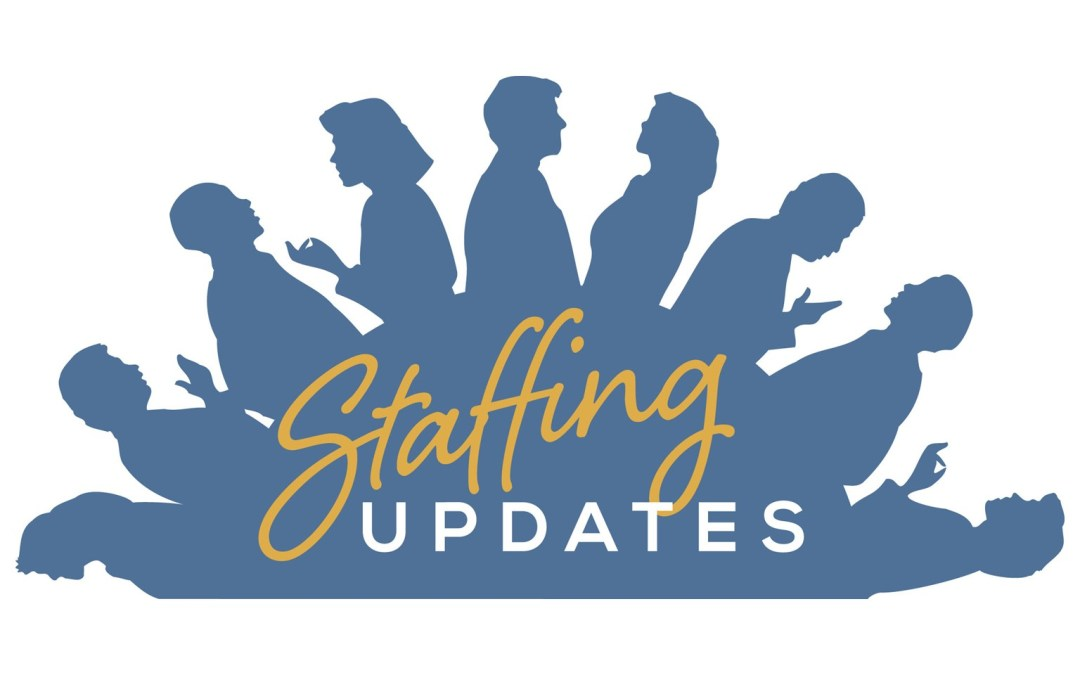 Changes in Pastoral Staff