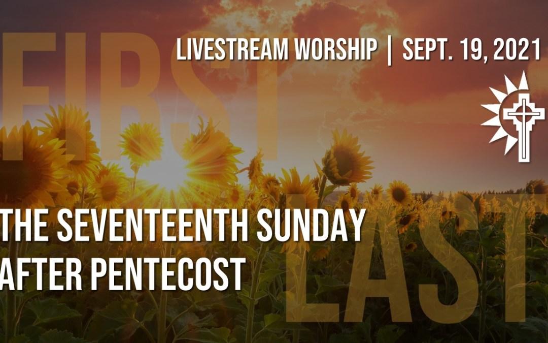 Sunday Worship – September 19