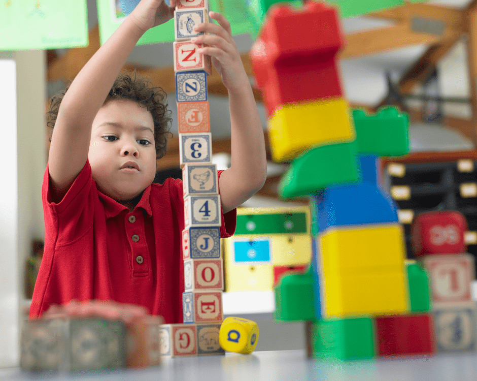 Child building blocks advice for the last day of school