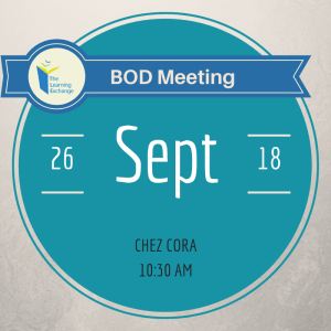 TLE BOD September Meeting