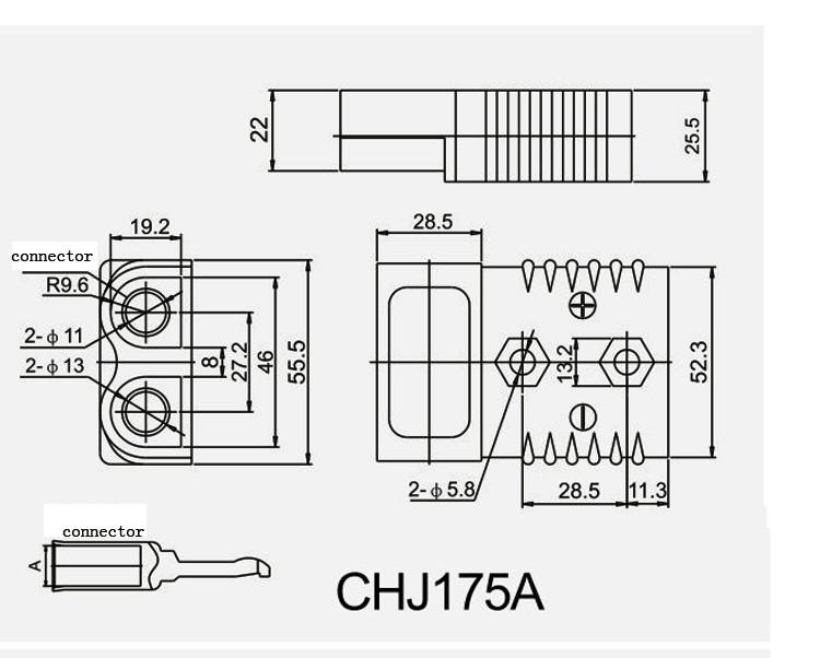 175amp Qapchu' Auto Forklift Connector laSvargh, Suppliers