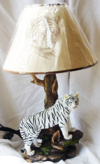 "ILLUMINATED TIGER White Tiger Lamp Statue Figurine H20"" | eBay"