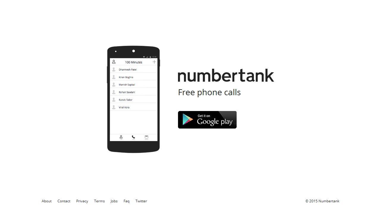 How to make a mobile call from internet using Numbertank