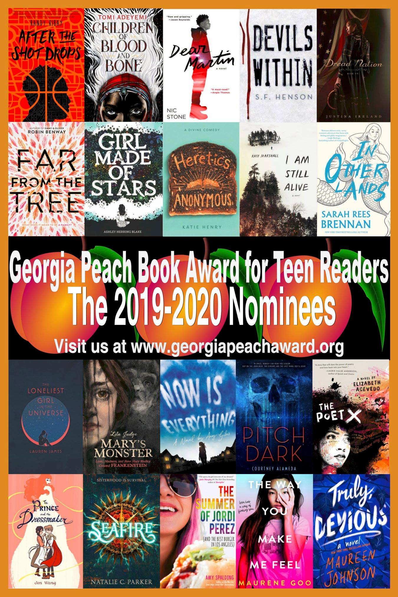2019-2020  Peach Book Award for Teen Reader Nominees | Vote Now