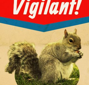Propaganda poster about squirrells