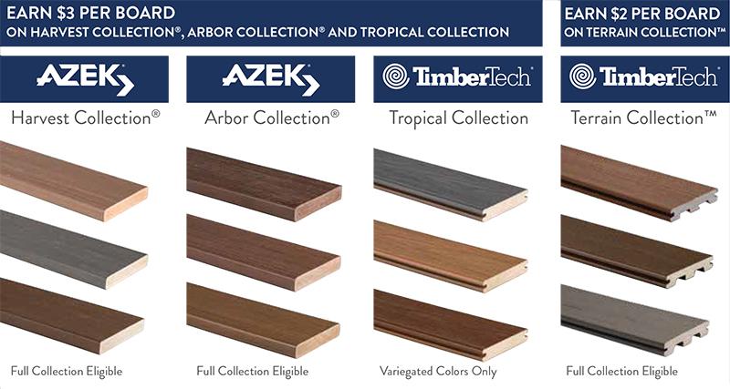 AzekTimberTech Contractor Rebate Special  Timberline