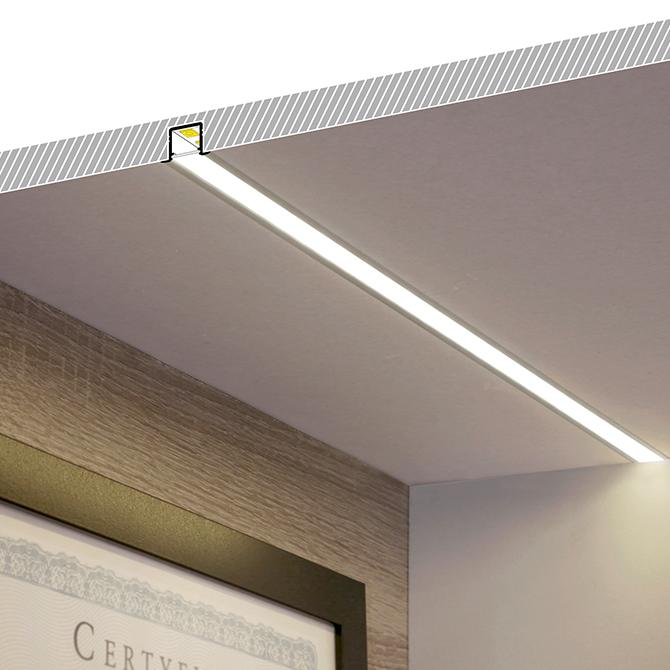 smart recessed led aluminium profile 2m