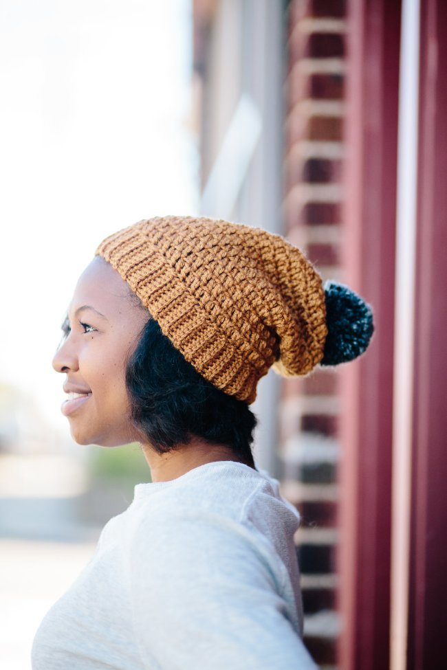 Mega Pom Beanie TL Yarn Crafts Crochet Winter Hat Pattern