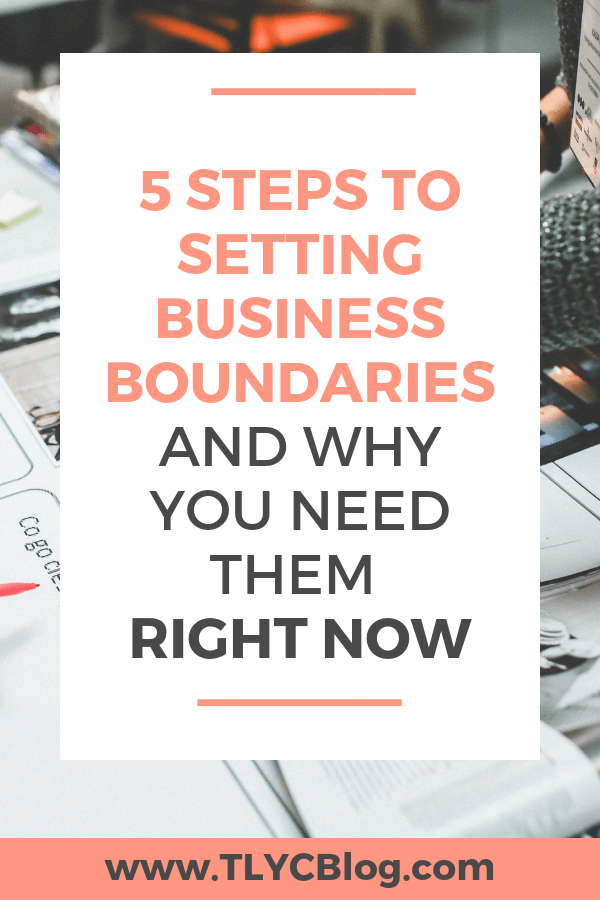 Are your worried that setting boundaries in your biz will scare away you ideal customer? The truth is healthy boundaries help attract more customers and collaborators to your handmade business. Click now to watch my Instagram LIVE replay all about how boundaries lead to possibilities and opportunities, plus 5 steps to setting clear and healthy boundaries for yourself and your business! | TLYCBlog.com