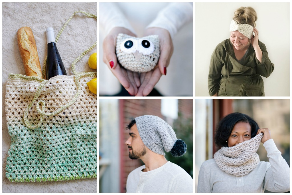 Crochet Essentials Pattern Collection - 9 beginner friendly crochet patterns to stock your craft market booth and give as holiday gifts. | TL Yarn Crafts