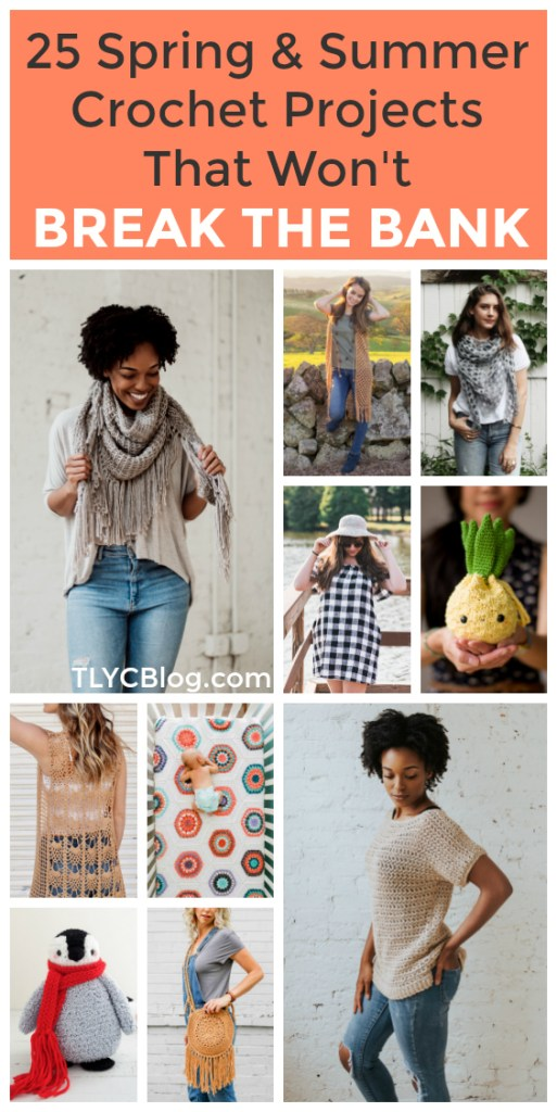 Being creative doesn't have to break the bank. If you love to crochet and want to make fun, modern projects, take a look at these 25 projects you can make with a handy kit for under $40. Everything from tops to cardigans, amigurumi to baby blankets and everything in between. What will you make next? #crochet #lionbrand | TLYCBlog.com