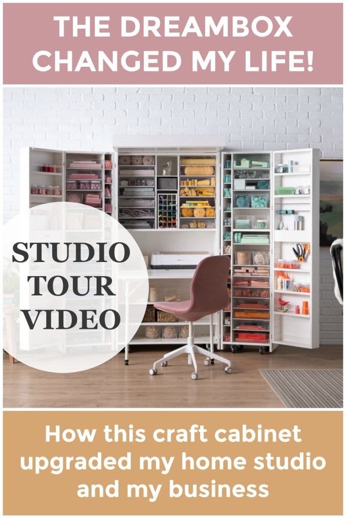 Craft Room Makeover with the DreamBox from The Original Scrapbox | How this craft organization cabinet changed the my home studio and the way I do business. DreamBox reveal, review, and tour. Scroll for $100 off your DreamBox. | TLYCBlog.com