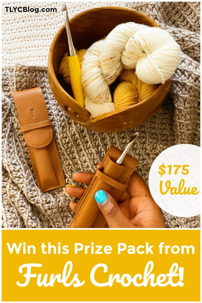 Furls Crochet Giveaway | Win a $175 gift card from Furls Crochet to go Christmas shopping! Choose from their handmade crochet hooks, yarn bowls, leather hook cases, hand dyed yarn and so much more. Giveaway is open worldwide. Click for more details and enter today! | TLYCBlog.com