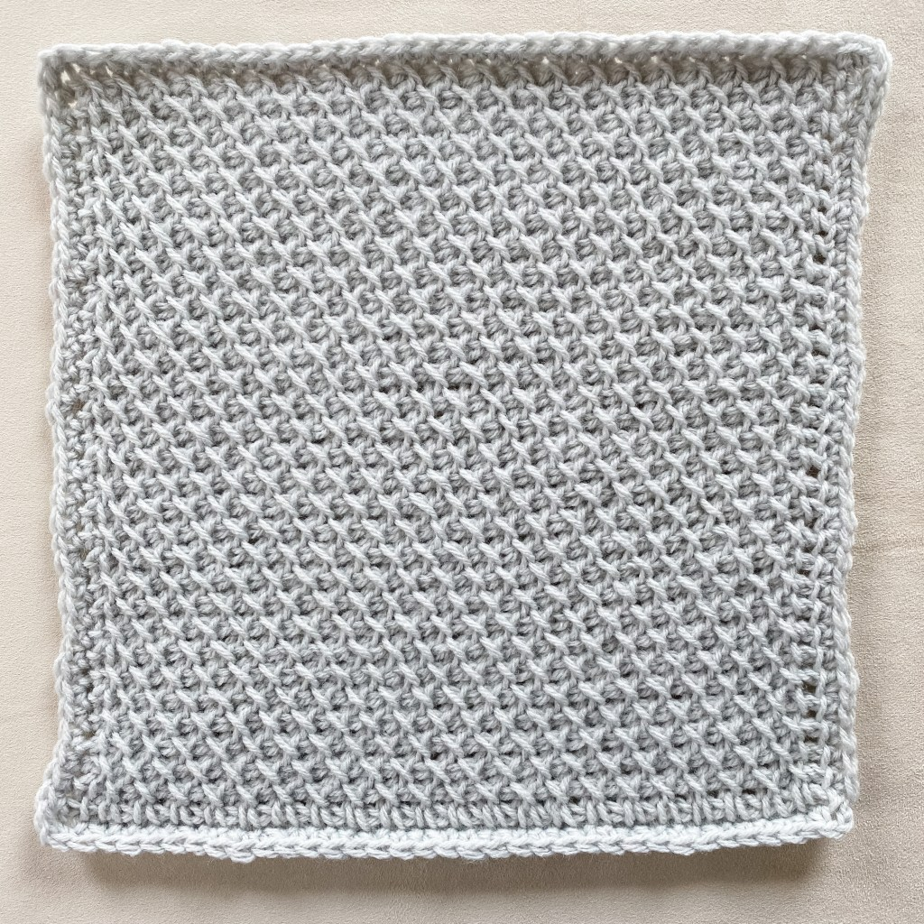 Learn to crochet the Tunisian Lattice Stitch, easy Tunisian crochet stitch beginner basic crochet stitch with video tutorial and written pattern instructions. | TLYCBlog.com