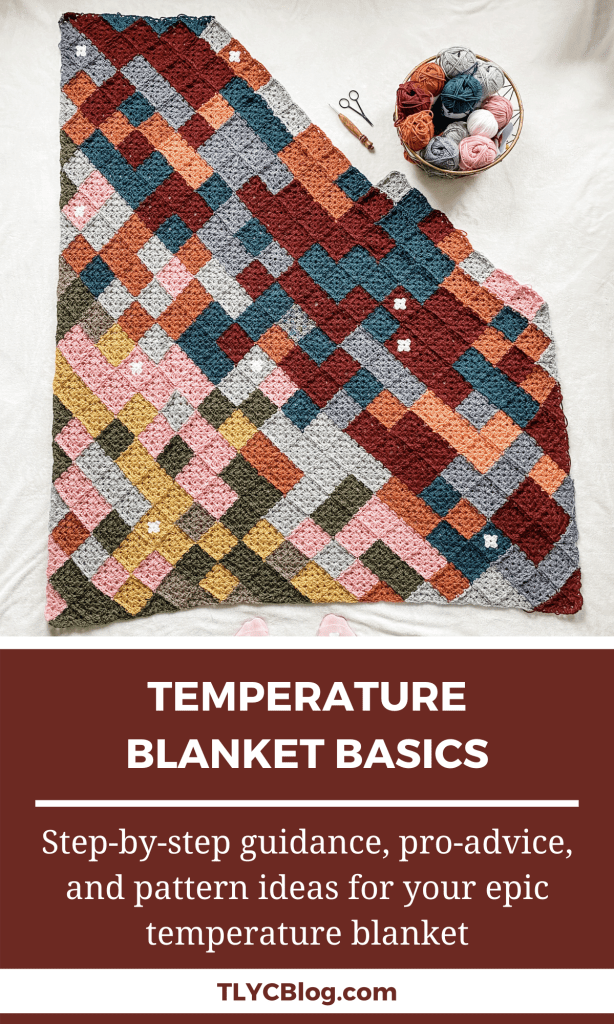 Knit or crochet a temperature blanket - tips and tricks for the perfect temperature blanket. | TLYCBlog.com