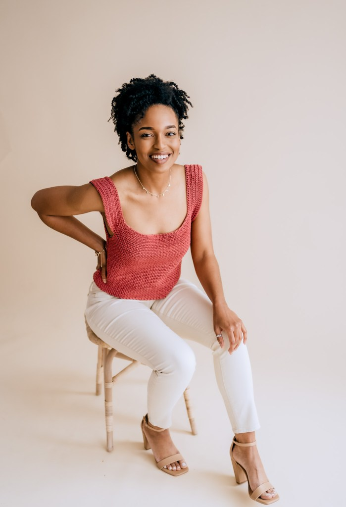 Roxie Tank | Free crochet crop top pattern made with mercerized cotton, Sizes Small-3XL. | TLYCBlog.com