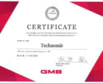 Сертификат дистрибьютора gmb Техномир Одесса Украина