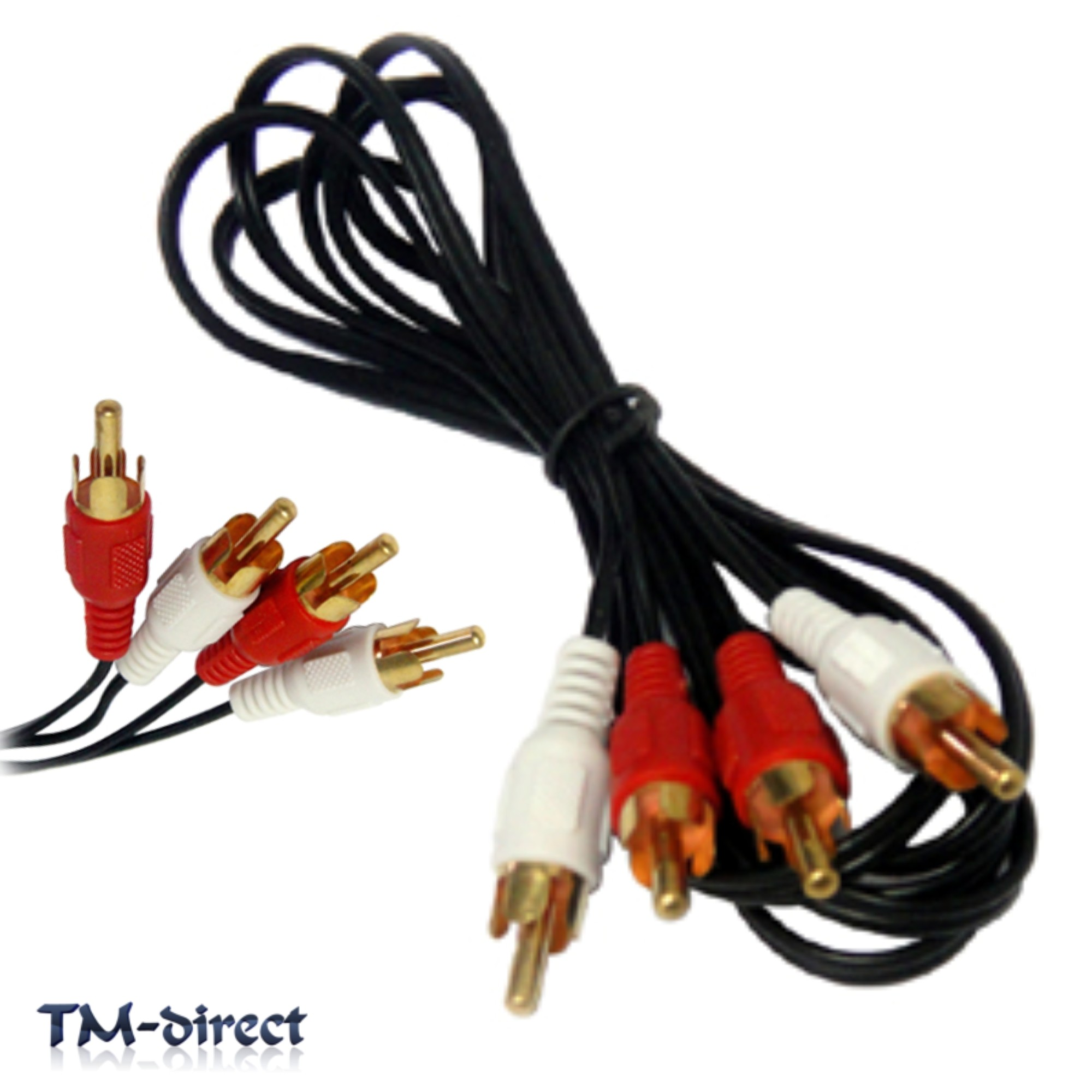 hight resolution of twin rca male phono plug to 2 x rca audio 1 1 2 1 5 1 8 2 2 5