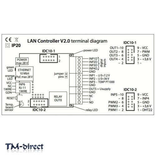 small resolution of  tinycontrol lan remote control ethernet module lan wan web server rj45 relay