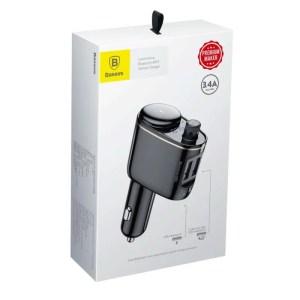Transmiter FM do samochodu Baseus 2x USB, Bluetooth - CZARNY