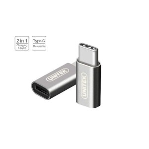 Adapter USB Unitek USB Typ C - microUSB srebrny (Y-A027AGY)