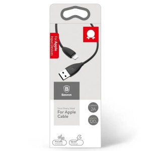 Kabel Baseus Small Pretty Waist USB do Lightning, 2A, 1,2m CZARNY