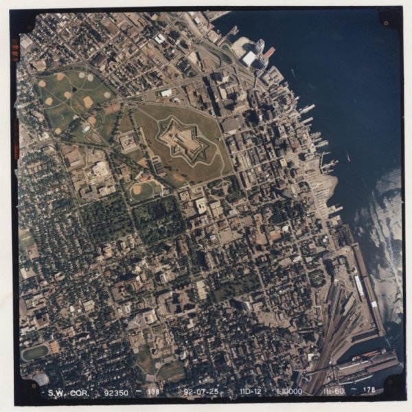 Scanned Aerial Photograph of Halifax, Nova Scotia