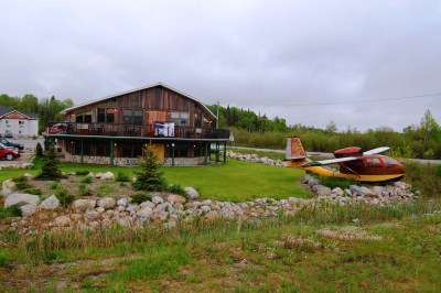Seabee amphibian bush plane in Sioux Lookout, Ontario