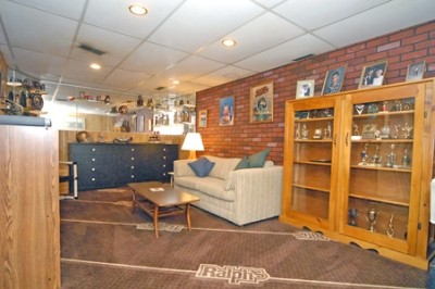 Family room in the basement before we moved in