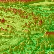 LIDAR 3D Surface of Bouctouche, New Brunswick