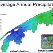 GIS Model of Average Annual Precipitation of the Annapolis Valley, Nova Scotia