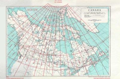 map showing UTM zones in Canada