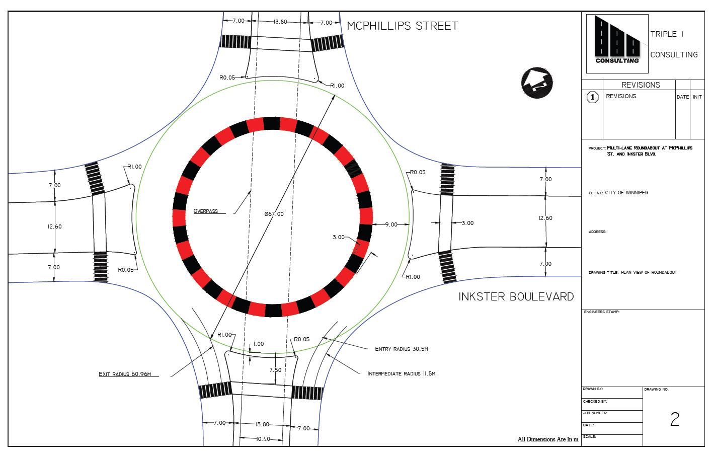 Winnipeg traffic confusion sorted with roundabout