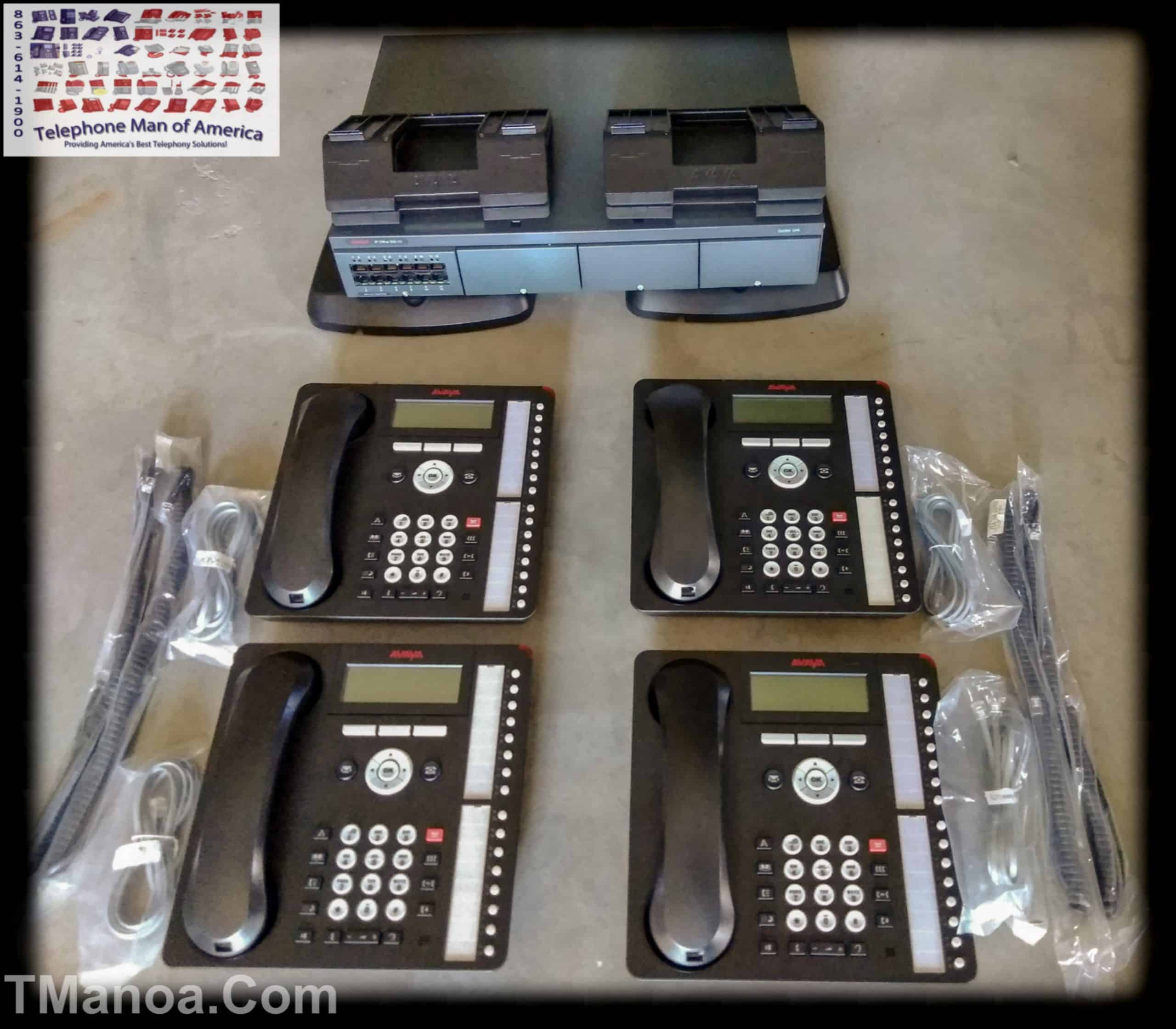 Avaya IP Office 500 V2 Phone System with 4 1416 Phones