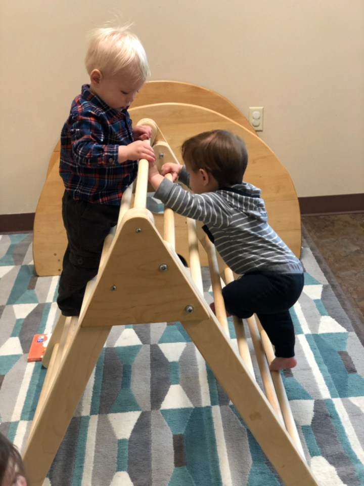 Infant Climbing, The Montessori Academy of Arlington, Private School Arlington TX