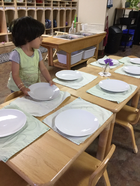 Toddler - Setting the Table