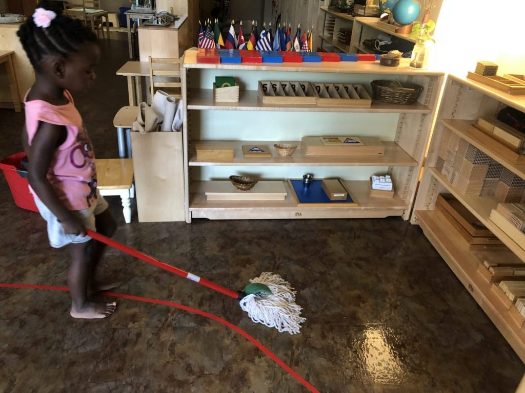 Practical Life Mopping