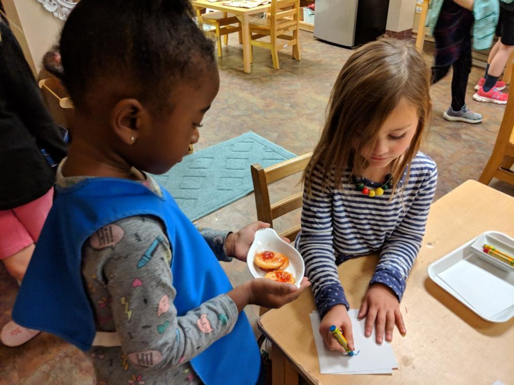 Early Childhood Serving Food
