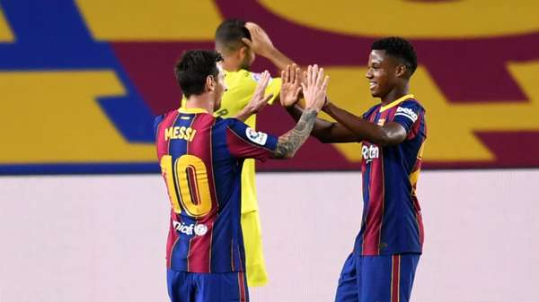 Fati benefitting from Messi advice as Barcelona dream continues