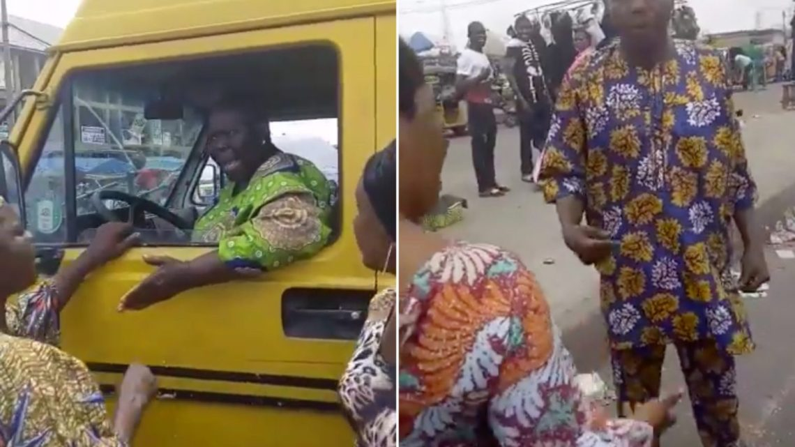 Elderly Woman Hijacks Lagos Commercial Bus After Driver Refused To Give Her, Other Passengers Their Balance (Videos)