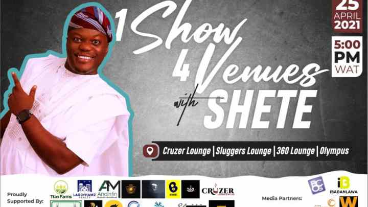 1 show 4 venues with SHETE