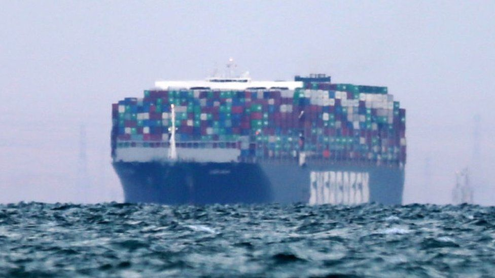 Suez Canal: Egypt begins inquiry into cargo ship's grounding