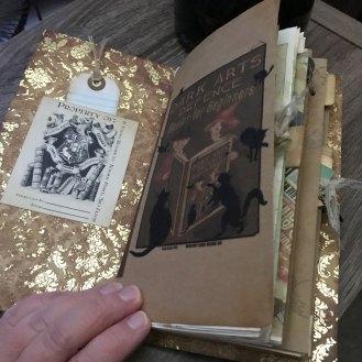 inside front of junk journal