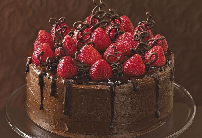 Chocolate Strawberry Celebration Cake Recipe Taste Of Home